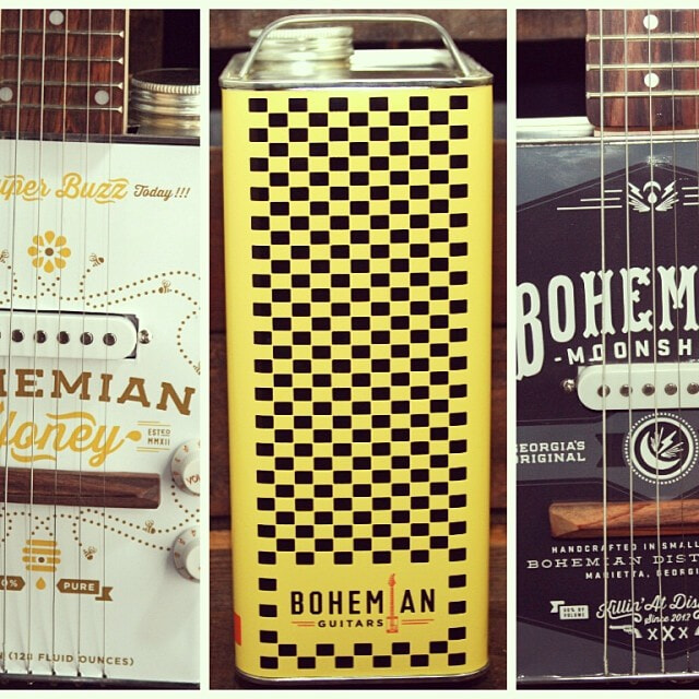 Bohemian guitars - Honey, Surf wax et Moonshine corps