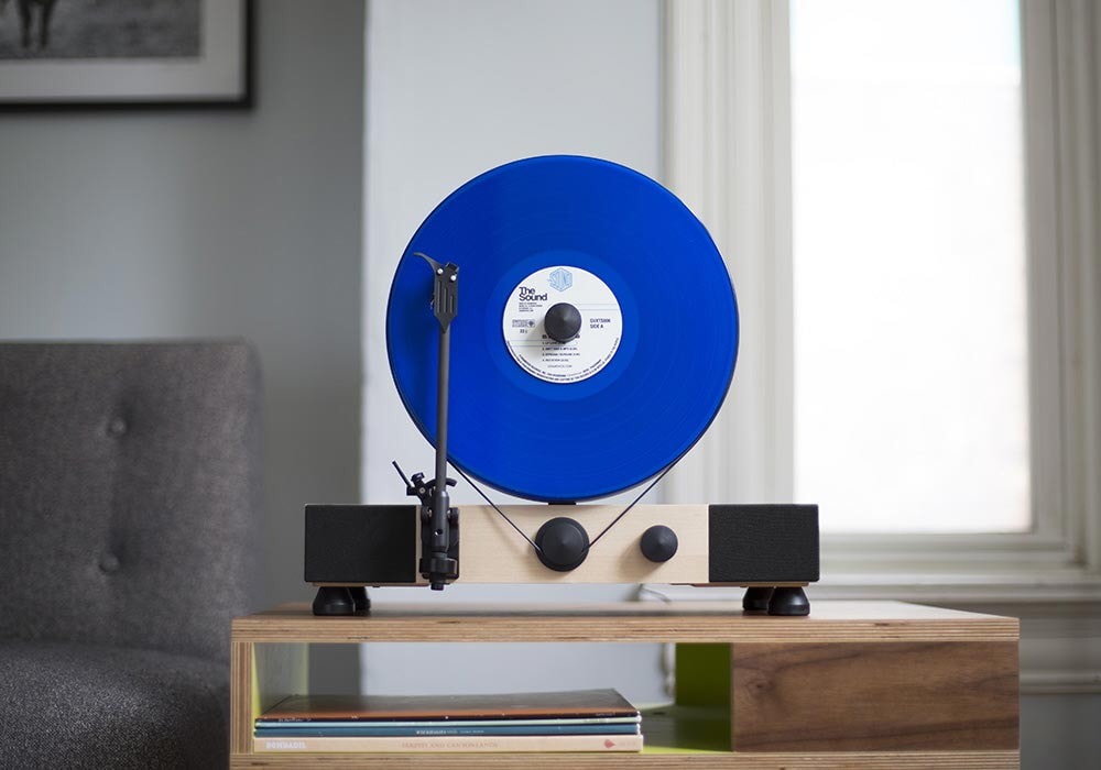 Gramovox erable disc bleu