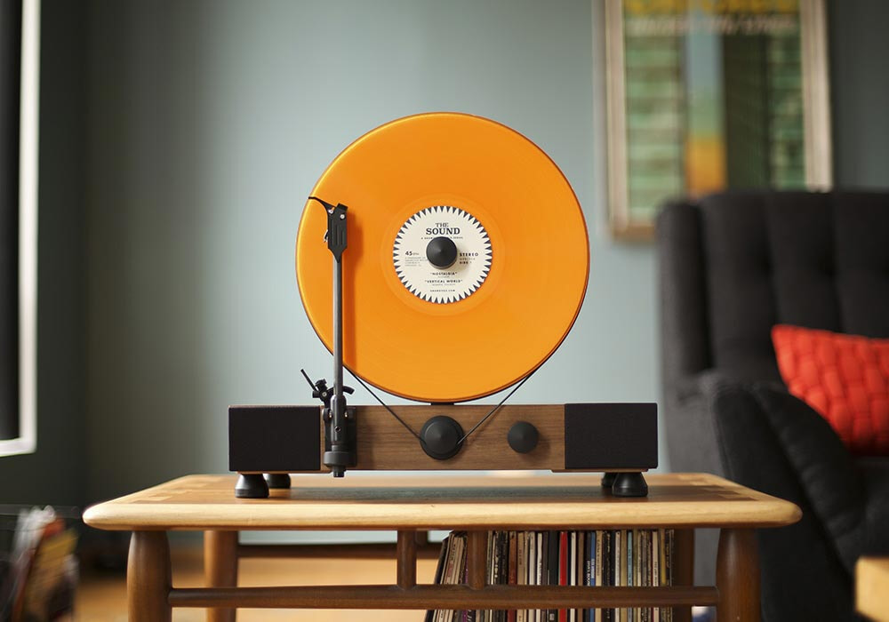 Gramovox noyer disc orange 2