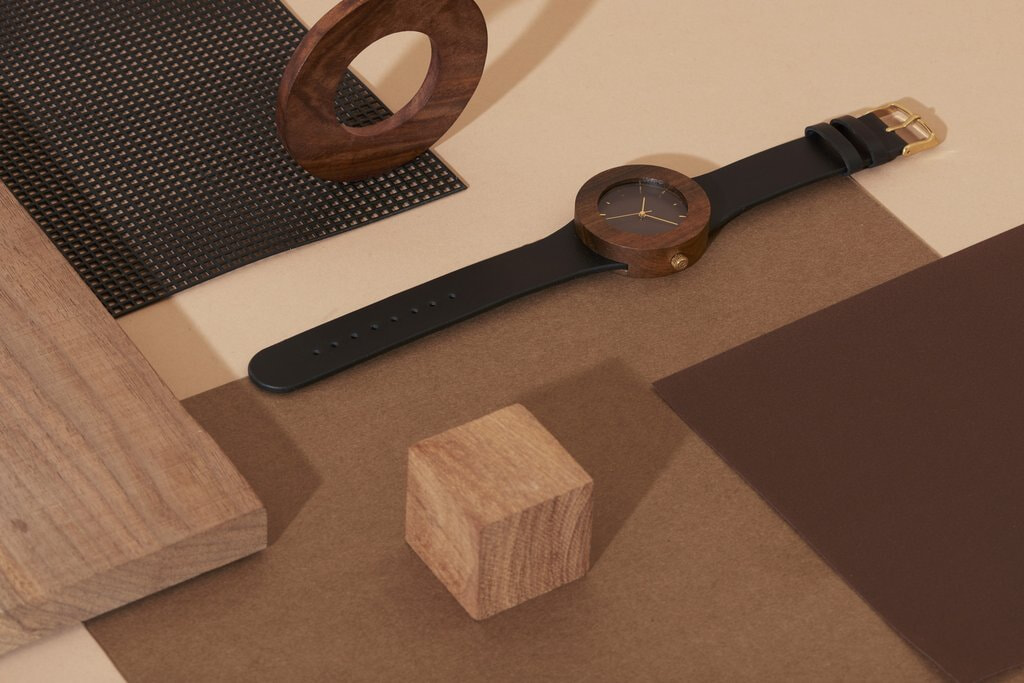 Analog watch - Cuir et Blackwood